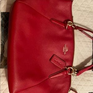 Authentic Coach bag- brilliant Red-Like NEW